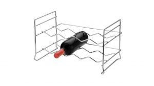 Mini Adega Rack Porta 8 Garrafas De Vinho Empilhável - Aço